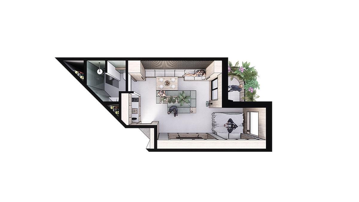 BNLA-architecten-ontwerp-co-living-prive-appartement
